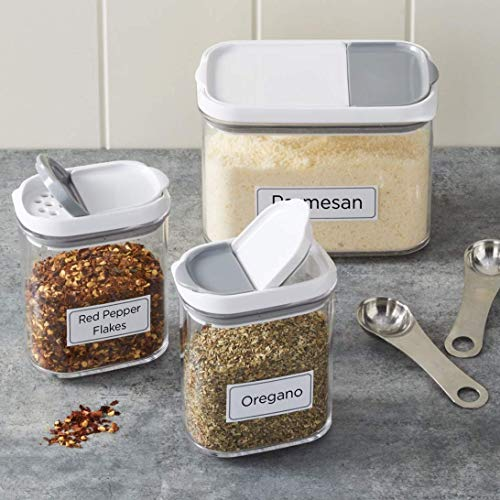 Better Homes & Gardens Shake & Store 3 Pack Container Set with Labels
