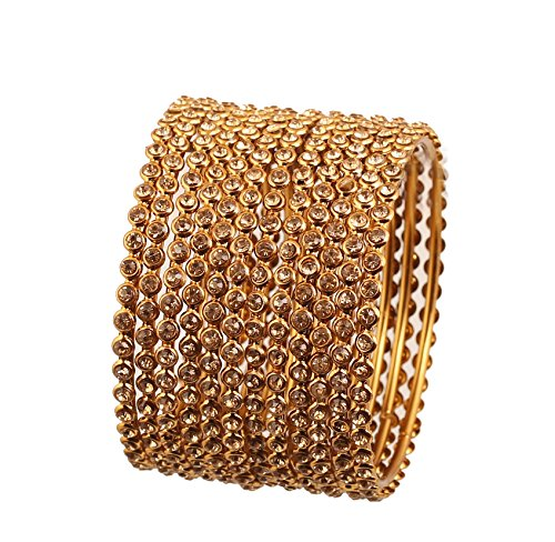 Touchstone Bangle Collection Yellow Rhines traditionelle Single Line atemberaubenden Designerschmuck Metall Armreifen Armbänder für Damen 2.5 Citrine