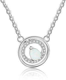 Collane rotonde per le donne Cubic Zirconia goccia d'acqua opale pietra collane moda gioielli regalo
