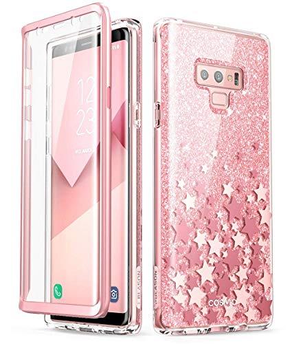 i-Blason Hülle für Samsung Galaxy Note 9 Glitzer Handyhülle 360 Grad Schutzhülle Bumper Case Cover [Cosmo] mit integriertem Displayschutz, Pink