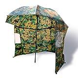 Zebco Erwachsene Schirme Nylonstorm Umbrella 2.20m Camou, Mehrfarbig