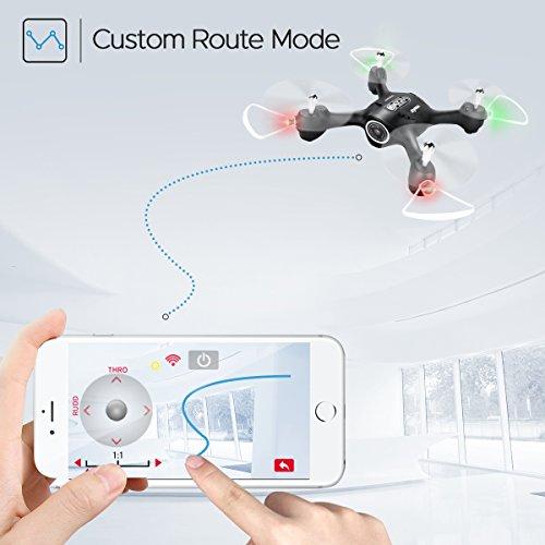 AUKWING RC Racing Drohne SYMA X23W WiFi HD FPV Fernbedienung Hubschrauber mit Kamera Höhe Halten 2,4 GHz Mini Quadcopter (Schwarz)