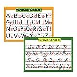 ABC - Poster con lettere dell'alfabeto e manuscript per bambini, 16' x 23,6'