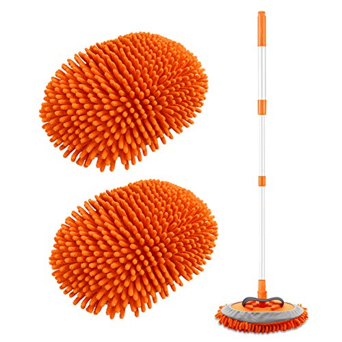 2 in 1 Chenille Microfiber Car Wash Brush Kits Mop Mitt with 45