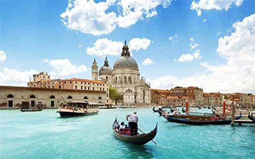 Puzzel Voor Volwassenen 1500 Stukjes, Venetië Boten Gebouwen Rivieren, Uniek Verjaardagscadeau
