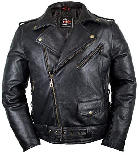 MDM Herren Motorrad Jacke im 90´s Stil (3XL)