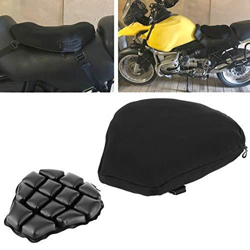 Cerlingwee Cojín de Asiento de Motocicleta Transpirable a Prueba de Golpes de sillín para Motocicleta Scooter