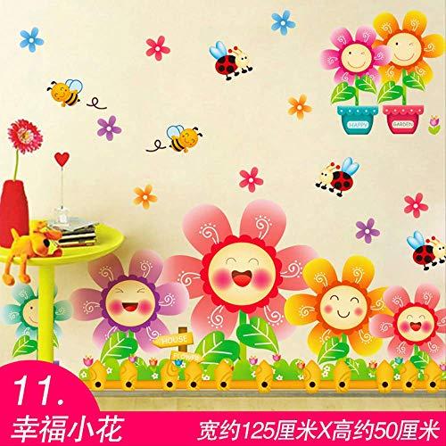 YJYZKAWRPL Wandaufkleber Selbstklebende Cartoon Ballon Piktogramm Dekoration Kinderzimmer Schlafzimmer Kindergarten Tapeten 125 * 50 cm D