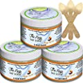 The Keys Salt Scrub : Premium Exfoliating Sea Salt Body Skin Scrubs (Mango Coconut, Bulk 3 Pack 12 oz)