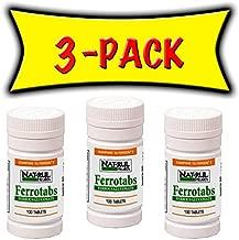 Nat-rul Health Ferrotabs Bottle 100 Tablets - 3 PACK