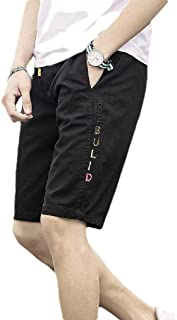 RkBaoye Men Cotton Pockets Beach Printed Baggy Summer Casual Bermuda Shorts
