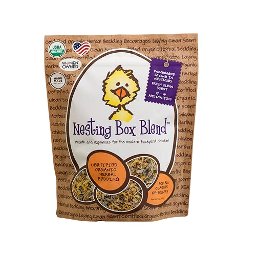 Treats For Chickens Nesting Box Blend Certified Organic Herbal Bedding 5oz