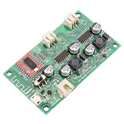 Changor Placa de Amplificador de Potencia Bluetooth, batería de Litio de plástico de 5 V CC o 3,7 V. Amplificador de Potencia de Audio con Altavoz Bluetooth