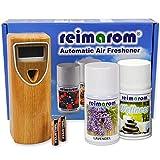 Lufterfrischer Set Wellness inklusive programmierbarem Duftspender Wood und zwei Düften aus ätherischen Ölen