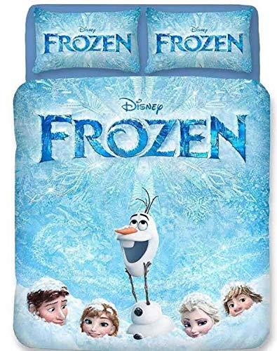 Disney Frozen - Funda nórdica de microfibra, suave y cómoda, funda de almohada para dormitorio infantil (09, 200 x 200 cm (50 x 75 cm)