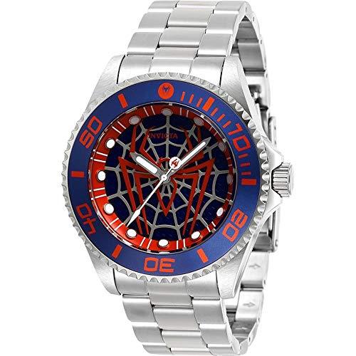 Invicta 29683 Men's Marvel Blue, Red & Silver Dial Quartz Watch