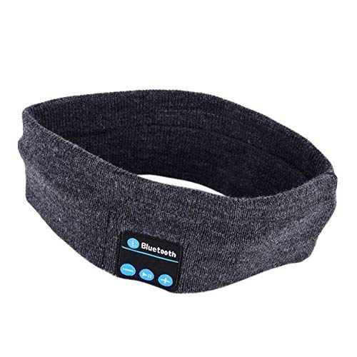 Bluetooth Headband Banda para La Cabeza con Música Bluetooth Tejidos para Dormir Headwear Auriculares Auriculares con Altavoz Deportivo-Dh