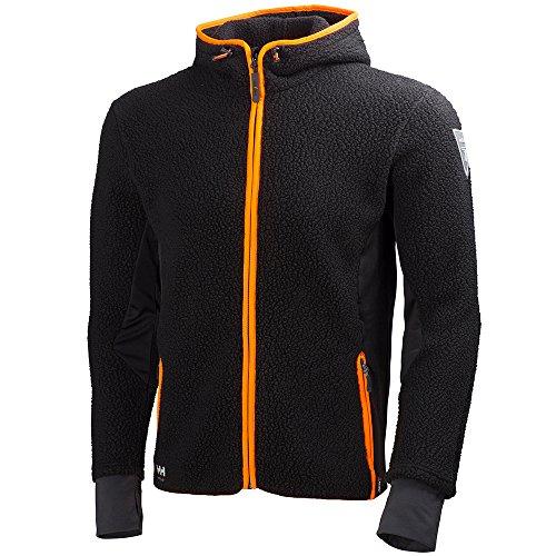 Helly hansen workwear 72269 - Fleecejacke giacca lavoro cappuccio felpa mjolnir pelliccia, incappucciato, l, nero