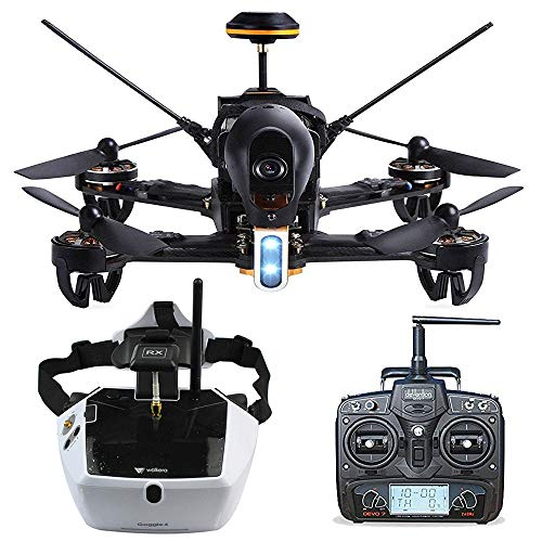 Walkera F210 Deluxe Racer Drone w/ 5.8G Goggle4 FPV Glasses/Devo 7 Transmitter /700TVL Night Vision Camera, Ready to Fly