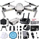 DJI Mavic Pro Platinum 4K Quadcopter Drone with SanDisk 64gb Card, Card Reader, Landing Gear Height Extender, Landing Pad Ultimate Starter Bundle Kit