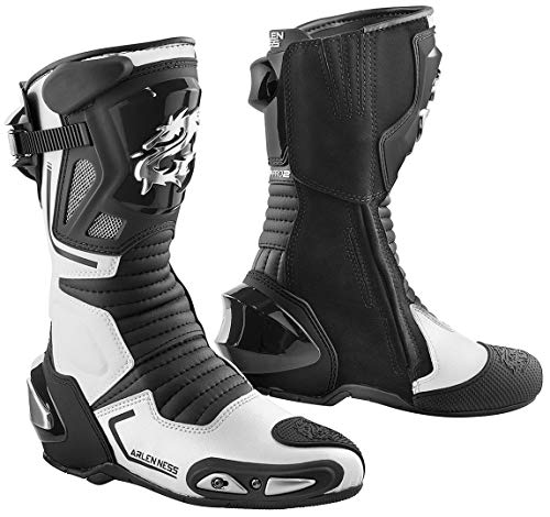 Arlen Ness Sugello Stivali da moto Nero/Bianco 37