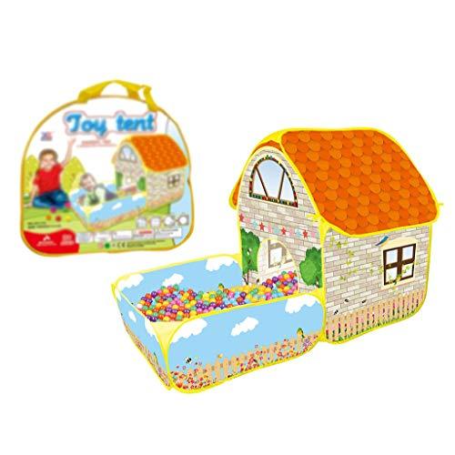 Draagbare kinderen spelen tent, opvouwbare pop-up speelhuis tent, voor meisjes jongens baby's peuters met rits opbergkoffer voor gebruik binnenshuis buiten