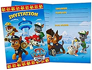 Paw Patrol 8ct Invitations - Pack of 2