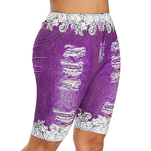 N\P Pantalones cortos deportivos de cintura alta para mujer, para correr, fitness, yoga