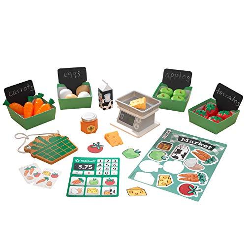 KidKraft 53540 kookgerei set voor speelkeuken, zilver
