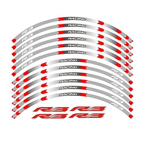 wjyfexble Pegatina de la Rueda de la Motocicleta Raya Raya REMÁFICA Compatible con Yamaha YZF R3 WYJHN (Color : 3)