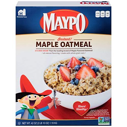 Homestate Farms Maple Flavor Maypo Oatmeal Cereal, 42 Ounce -- 8 per case.