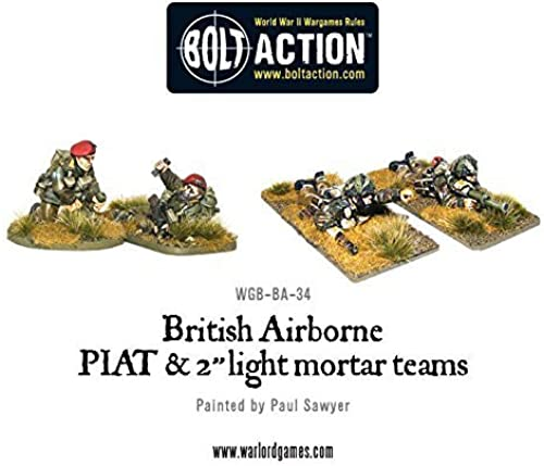 British Airborne PIAT and Light Mortar team, 28mm Bolt Action Wargaming Miniatures by Bolt Action