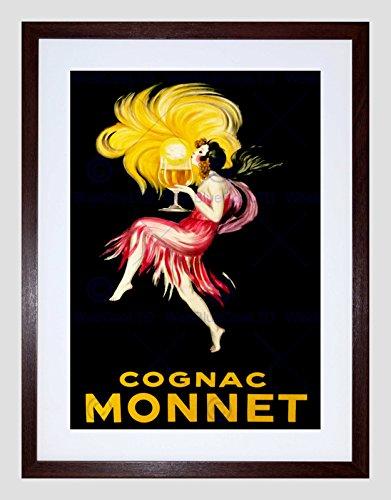 Wee Blue Coo Ad Drink Alcohol Cognac Brandy Meisje Glas Rode Jurk Frankrijk Art Omlijst Muur Art Print
