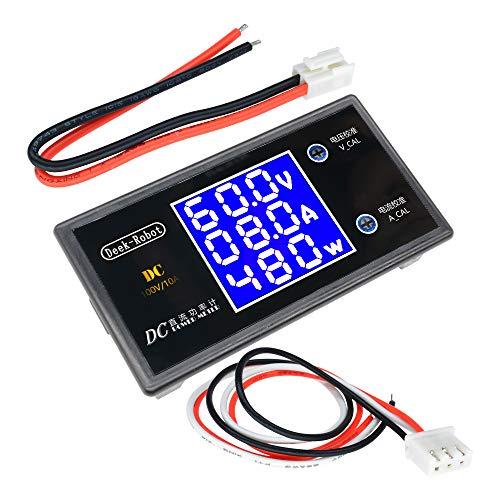 ILS – DC digital 0-100 V 0-10 A 250 W tester digital cristales líquidos DC7-12 V visualización tensión corriente Power Meter voltímetro Amp Detector