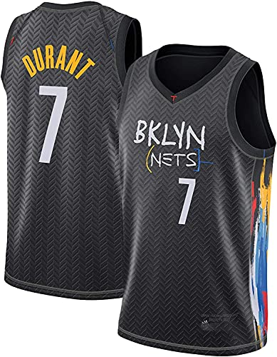 Movement Brooklyn Nets 7# Kevin Durant Jersey, 2021 Temporada City Edition Camiseta de Baloncesto, Entrenamiento Deportivo Transpirable de Malla sin Mangas Top Chaleco(Size:/L,Color:G1)