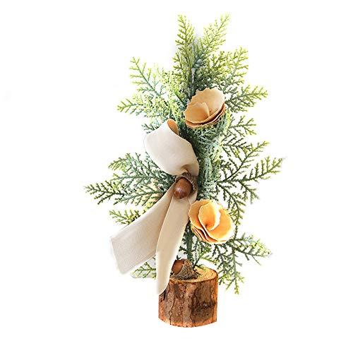Sapin de Noël Miniature Noël Décor Interieux,Sapin de Noel Mini Arbre de Noël Artificiel Miniature Decoration Table Ornements Christmas (#C, 25CM)