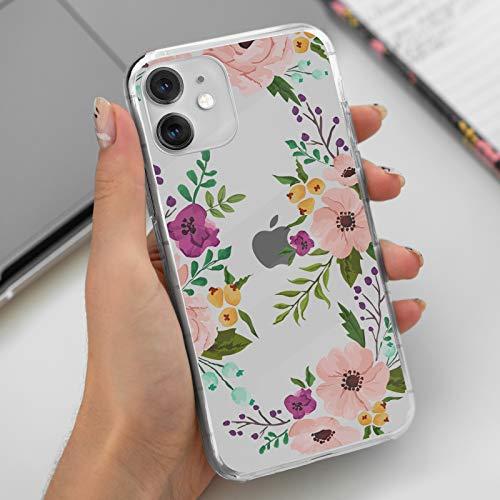 Neasow iPhone 11 Clear Hülle mit Blumen Design TPU Stoßfest Schutzhülle für Apple iPhone 11 6.1 Zoll Cute Floral iPhone11 Basic Cases für Frauen Mädchen Blume