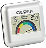 PEARL Thermo Hygrometer: Digitales Hygrometer mit Thermometer und grafischer Anzeige...