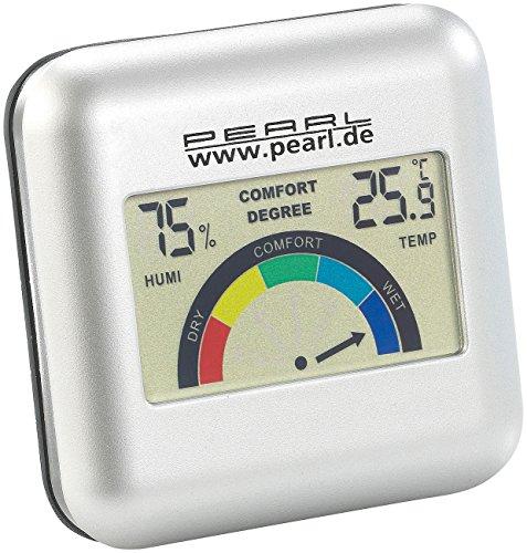 PEARL Thermo Hygrometer: Digitales Hygrometer mit Thermometer und grafischer Anzeige (Digitales Hygro- und Thermometer)