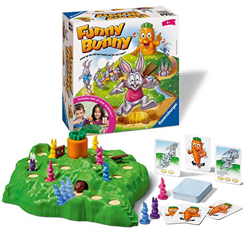 Ravensburger UK 21330 Ravensburger Funny Bunny Kids Age 4 Years and up-A Fun & Fast Family Game You Can Play Over & Over