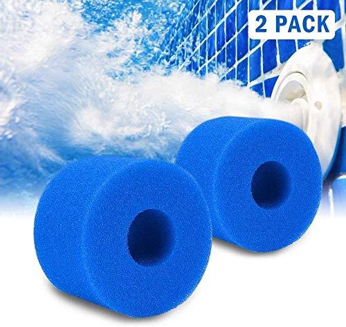 N/E Schwimmbad Filter für Intex S1 Typ SPA Schaumpatronenschwamm, Waschbarer Filterschwamm Ersatz Wiederverwendbares Reinigungswerkzeug
