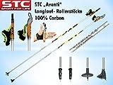 STC Avanti 100% Carbon Langlaufstock Skating Roller Stöcke Rollski Stöcke Skike (165 cm)