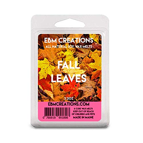 Fall Leaves - Scented All Natural Soy Wax Melts - 6 Cube Clamshell 3.2oz Highly Scented!