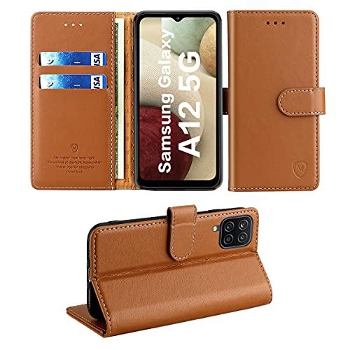 FMPC Funda Samsung Galaxy A12, Premium Cuero Libro Caso Tapa Flip Folio con Soporte Tarjetas...