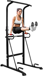 ONETWOFIT Multi-Function Power Tower,Adjustable Height Pull up Station Home Workout Bar Pull up Bar Push Up Home Fitness Workout Station Dip Stands Pull up Tower OT130