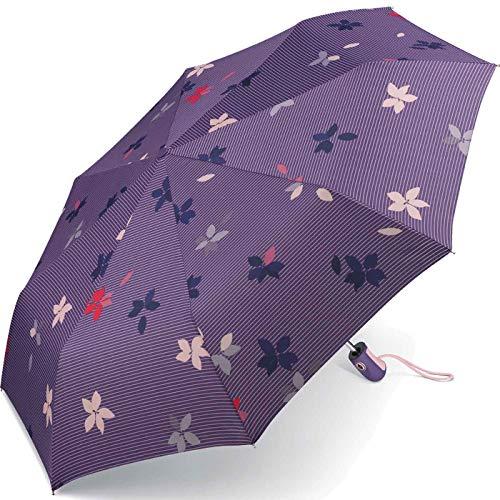Esprit Taschenschirm Easymatic Light Flower Rain - Mystical