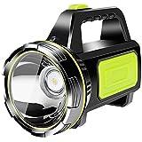YChoice365 Lampe torche puissante rechargeable portable LED réflecteur torche à main super brillante étanche lampe torche bougie lampe de sécurité lampe torche de camping