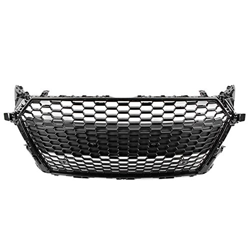 ZMAUTOPARTS For 2015-2017 Audi TT/TT Quattro TTRS Style Honeycomb Mesh Hex Grille Gloss Black