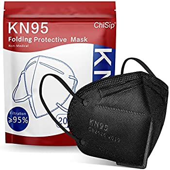 20-Pieces ChiSip KN95 5-Ply Cup Dust Safety Face Mask