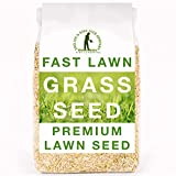 Fast Lawn Grass Seed, 1kg Premium Quality Fast Growing Grass Seeds. Tailored for UK Climate. Hardwearing Lawn Seed Perfect for New Lawns, Overseeding & Patch Repair. DEFRA Approved